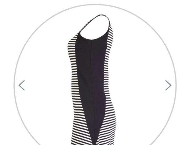 0342c9df418c Vestido Longo Listrado Preto E Branco Hering - R$ 82,99 em Mercado Livre