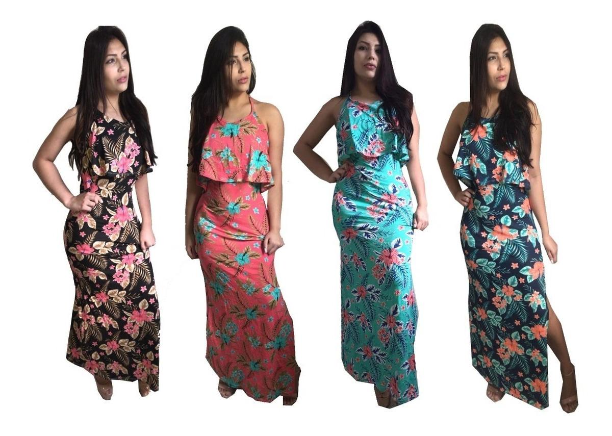 968e33fbf vestido longo moda evangelico estampado malha manga curta. Carregando zoom.