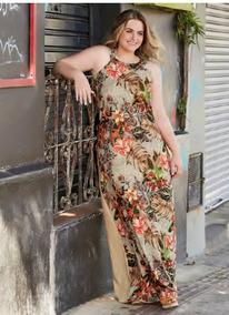 7adbed2aca Vestido De Crepe Longo Estampado Festa - Vestidos Femininas no Mercado  Livre Brasil