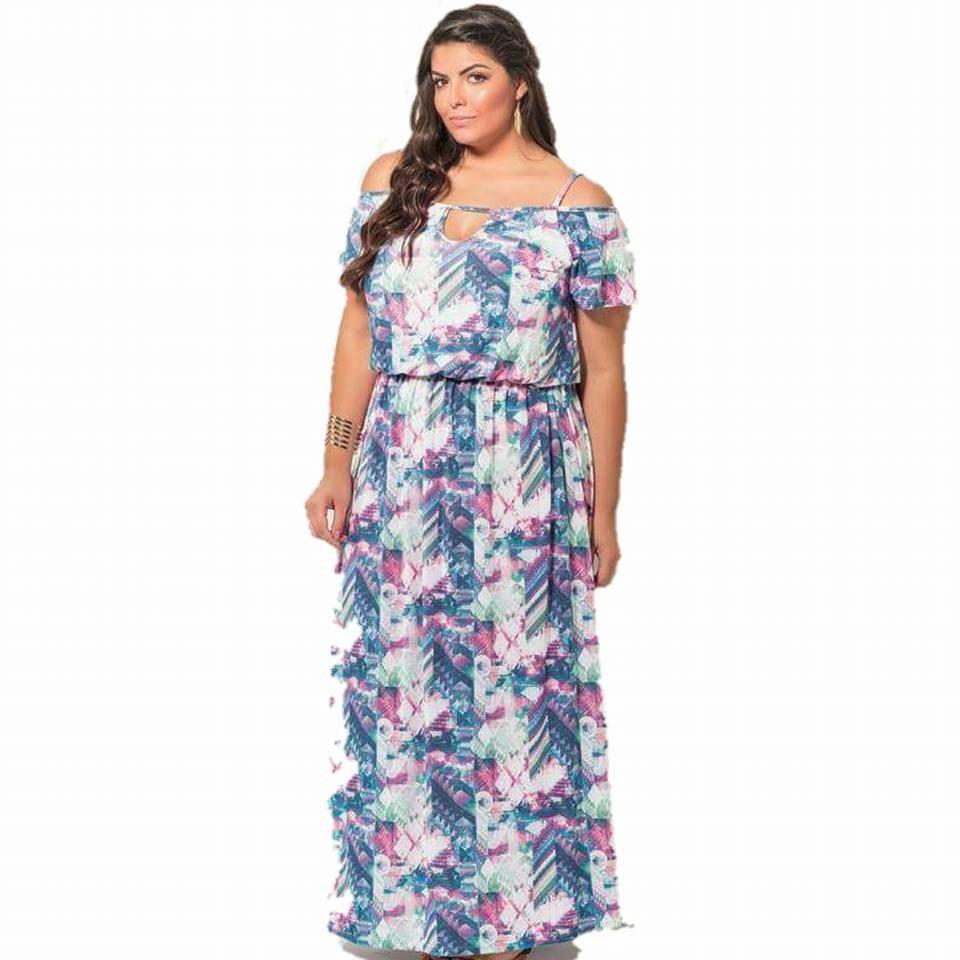 9af9dfb97 vestido longo plus size modelo cigana casamento festa lindo. Carregando  zoom.