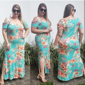 47b3a7040a9c Vestido Longo Floral - Vestidos Femeninos Longo com o Melhores Preços no  Mercado Livre Brasil
