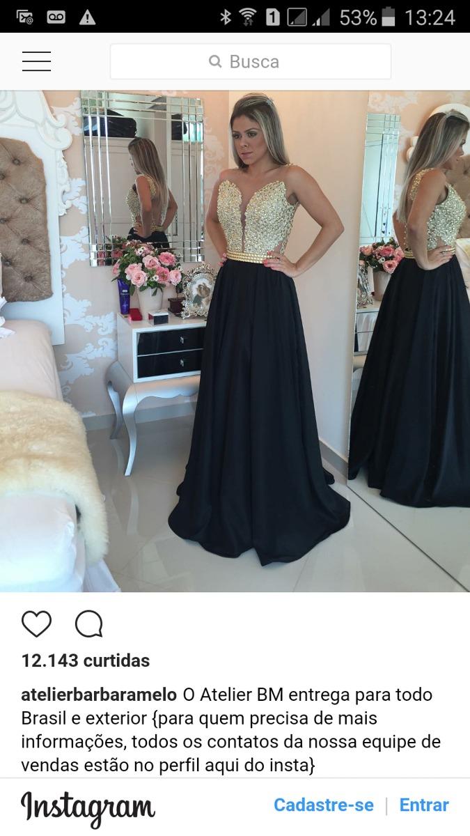 67f6b83d4 Vestido Longo Barbara Melo || conrapasperanpa