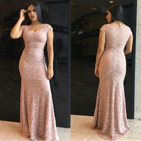 a847de03c6 Vestido Longo Rosa Seco - Vestidos Longos Femininas no Mercado Livre ...