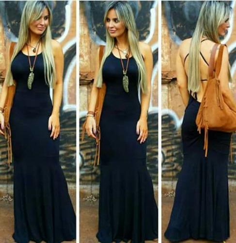 vestido longo sereia c/ bojo moda feminina+calcinha d brinde