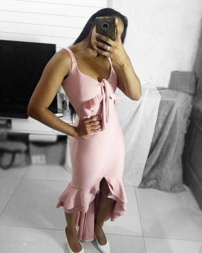 vestido longo sereia - com bojo e fenda