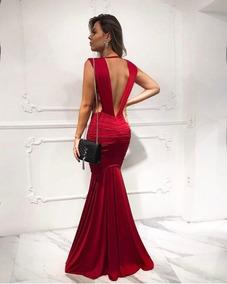 f7450a5c0 Vestido Decote V Profundo Marsala - Calçados, Roupas e Bolsas no Mercado  Livre Brasil