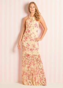 de1dde761 Vestido Longo Quintess Floral Frente Única - Vestidos Femininas no ...