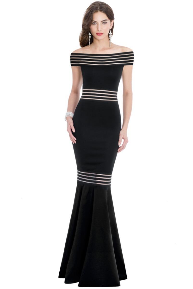 8fa49a6a3 vestido longo sereia preto justo sexy ombro a ombro lindo. Carregando zoom.