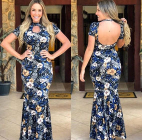 2b25f549e Vestidos Longo Com Busto De Elastico - Calçados, Roupas e Bolsas no Mercado  Livre Brasil