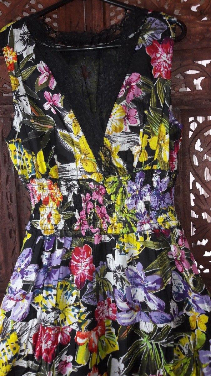 ee89a22670 vestido longo tecido algodão com renda floral babados. Carregando zoom.