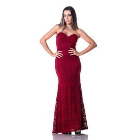 934478b780 Vestido Festa Longo Vermelho Tomara Caia - Vestidos De Festa Longos  Femininas no Mercado Livre Brasil