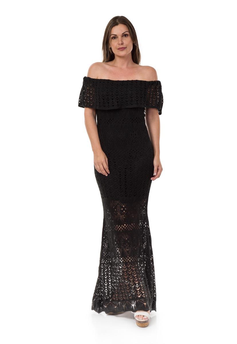a4618fc17f94 vestido longo tricot ombro a ombro noiva black friday verão. Carregando  zoom.