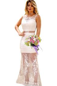 d55337303 Vestido Com Flores Bordadas Tule - Calçados, Roupas e Bolsas no ...