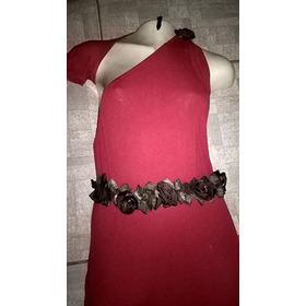 Vestido Longo Vermelho  Flores