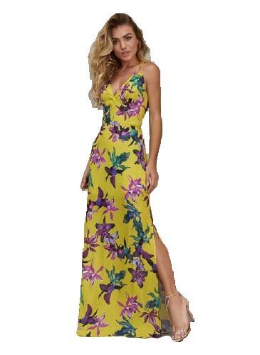 10e52025a Vestido Longo Verão Estampado Com Alças - R$ 294,90 em Mercado Livre