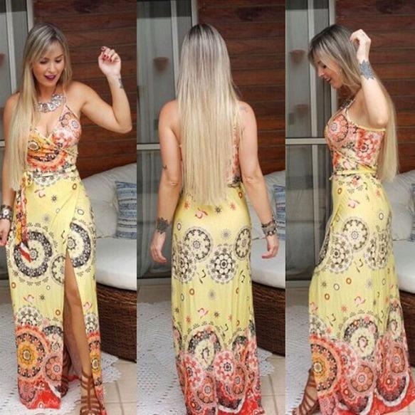 Vestido longo viscolycra mercado livre