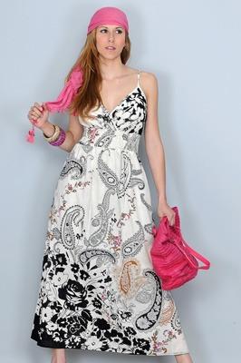 vestido longuete algodão importado europa frete grátis