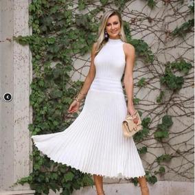 f90057b70 Vestido Tricot Lurex Listra no Mercado Livre Brasil