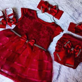 Meses Luxo A Batizado 5 Baby Pç Kit Renda Tiara Rn 8 Vestido wmn0N8