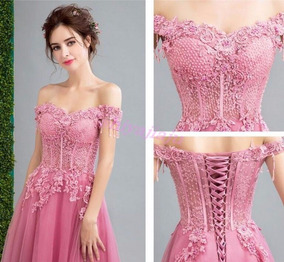 cfff8b1d4 Vestido Luxury Princess Corset Pink Fiesta Cocktail Prom