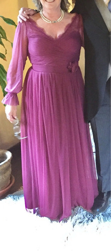 vestido madrina fiesta t12 usa anthropologie y zapatos bordo