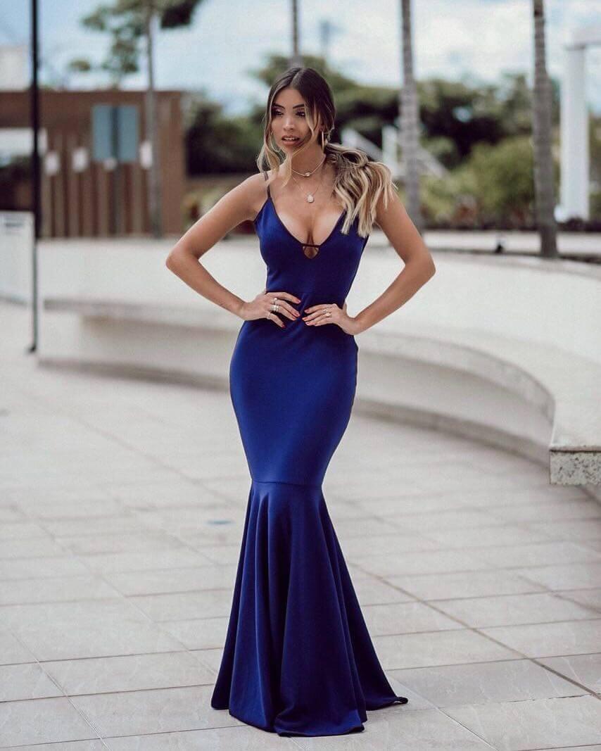 1c28598ab0daa vestido madrinha azul royal festa longo sereia formatura #67. Carregando  zoom.