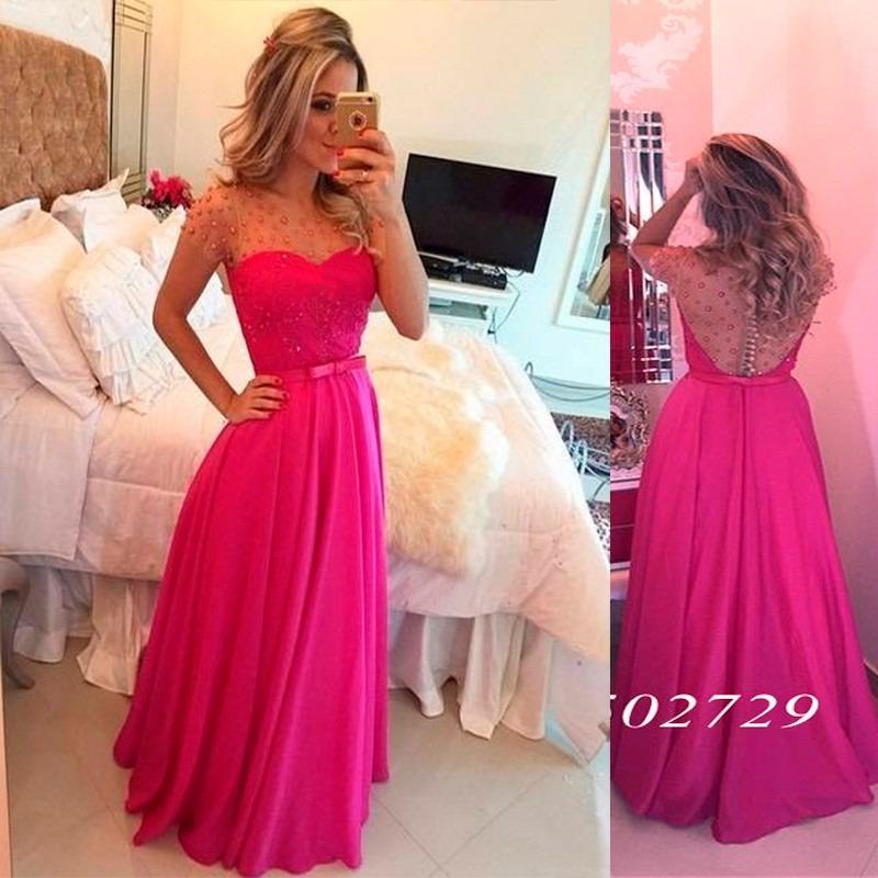 a32d252c1 vestido madrinha casamento evangélica rosa pink formatura. Carregando zoom.