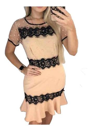 vestido madrinha casamento tule e renda festa curto  2704