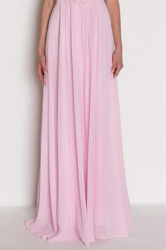 vestido madrinha festa casamento longo rosa claro