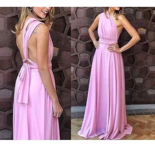 Vestido Madrinha Mil Formas Marsala Casamento Lux