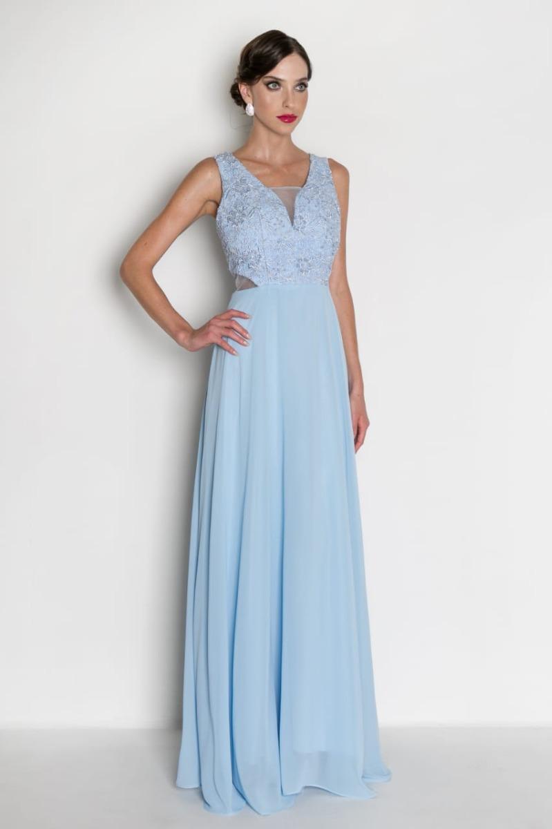 Vestido longo azul serenity comprar