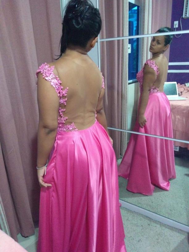 9270b7364 Vestido Madrinha Rosa - R$ 200,00 em Mercado Livre