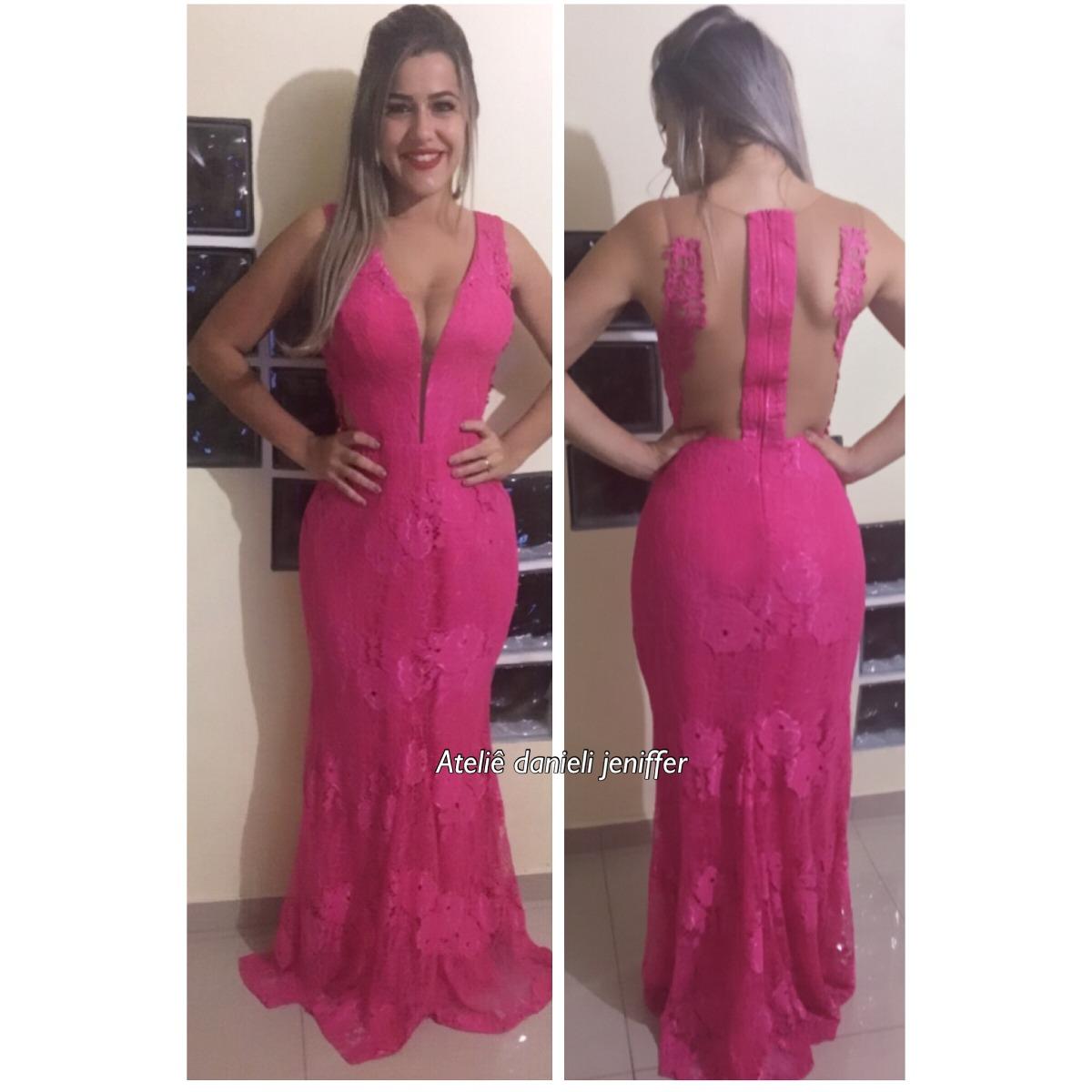 20ceb9834 Vestido Madrinha Pink Rosa Vestido Sereia Formatura - R$ 220,00 em ...