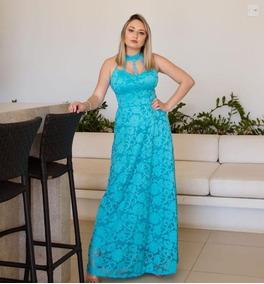 8138a2b48a Renda Guipir Azul Tiffany De Festa Longos Feminino Sao Paulo ...