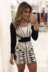 0d0af1482 Lindo Vestido Festa Malha Fria - Vestidos Femininas no Mercado Livre ...