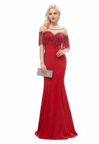 099c1c6a1 Vestido Mamá Novia Dama Graduación Elegante Party Rojo Wal