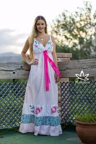 Cajoncitos Pintados A Mano Vestidos De Mujer Rosa Claro En