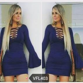 f12f7362bb5e Vestido Fit Flare - Vestidos Femeninos Casual Marrom com o Melhores Preços  no Mercado Livre Brasil