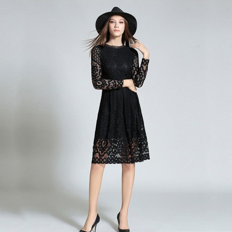 Vestido Manga Larga Formal Fiesta Grados Cóctel Negro -   148.000 en ... 7253550ad01e