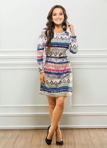 vestido manga longa curto feminino simples elástico cintura