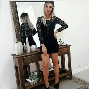 1fea57d8c Vestido De Veludo Com Renda - Calçados, Roupas e Bolsas no Mercado Livre  Brasil