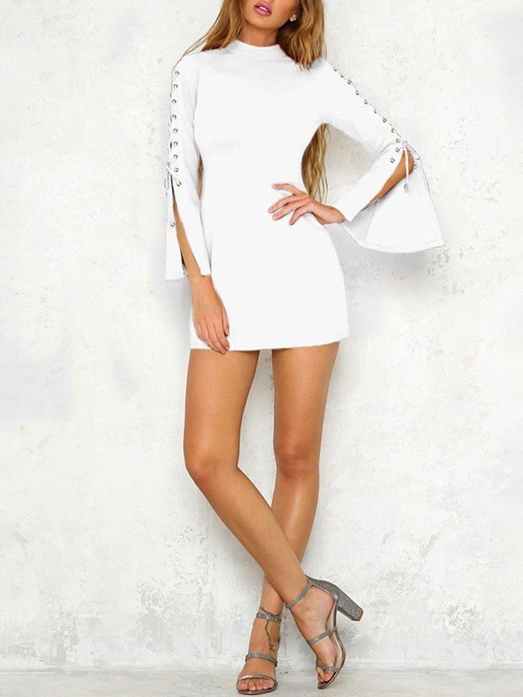 Vestido blanco coctel 2018