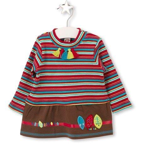 vestido marca española tuc tuc 1 a 6 años tipo mayoral cafe