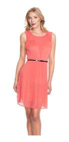 Vestido Marca Guess Modelo Caroline En Color Coral