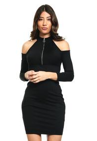 4ecea71d1451 Vestido Marca Guess Negro Cold Shoulder 100% Original Nuevo