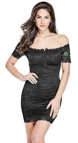1190232e6cd3 Vestido Marca Guess Negro Off Shoulder 100% Original Nuevo