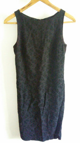 497c753975d6 Vestido Marca Límite Talle S Negro/violeta Cierre Espalda