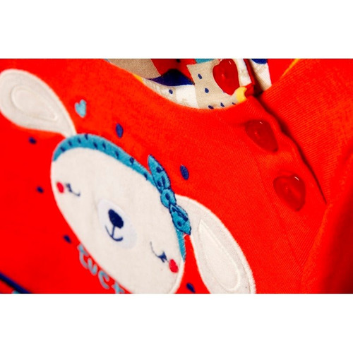 vestido  marca tuc  tuc tipo mayoral 2 a 5 años naranga azul