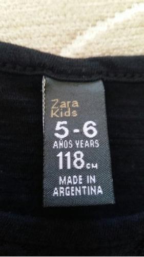vestido marca zara 5/6 años. excelente estado