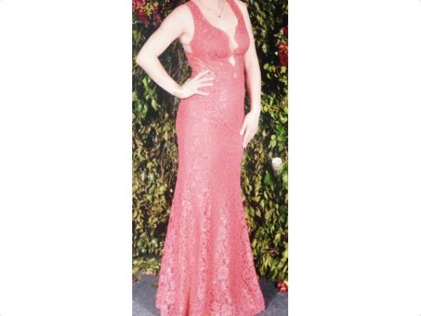d87800acc Vestido Marcia Mello Coral (laranja Rosado) Lindíssimo - R$ 850,00 ...